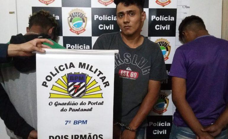 Trio furta casa de idosa em Dois Irmãos, mas é localizado pela PM e Polícia Civil