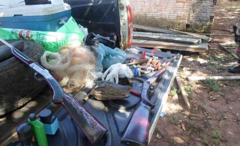 Esconderijo com armas e munições é desativado pela Polícia Militar Ambiental