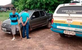A Polícia Militar Rodoviária recupera MS-164 veículo roubado em Campo Grande
