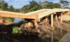 Ponte que caiu em Jardim apresenta falhas na sua execução