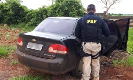 Carro com placas falsas é recuperado pela Polícia Rodoviária Federal em rodovia