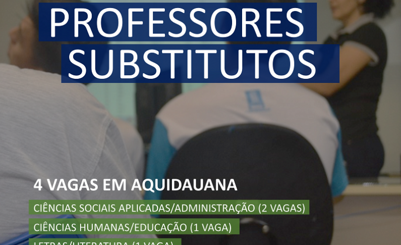 UFMS contratará 4 professores substitutos para Aquidauana