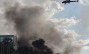 Ministérios em Brasília são incendiados e depredados