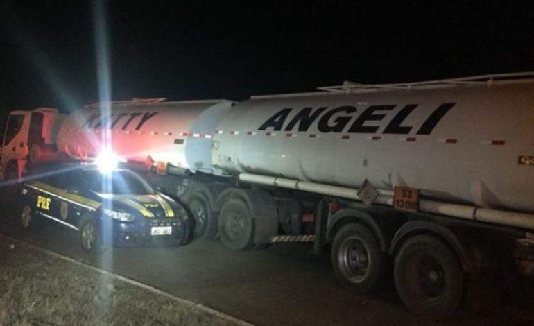 Caminhão com solvente que seria para 'batizar' gasolina é interceptado em MS