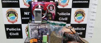 Polícia Civil de Aquidauana prende jovem que negociava maconha pelo Facebook