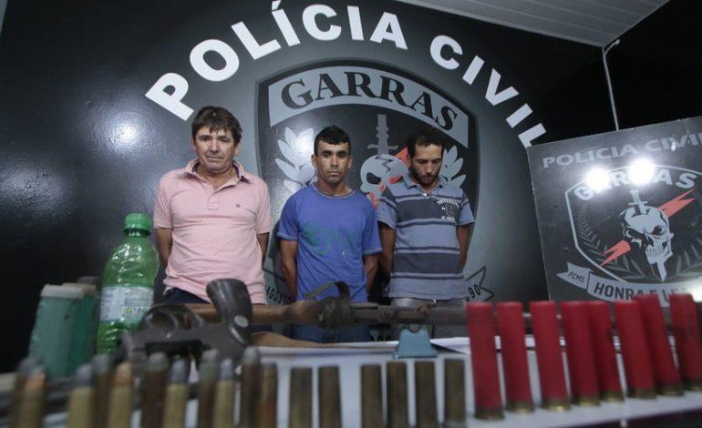 Trio é preso após roubos a caminhões boiadeiros