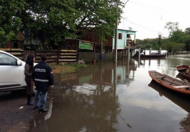 Sobe o número de desalojados no Rio grande do Sul