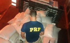 PRF apreende sacos de milho misturadas com maconha